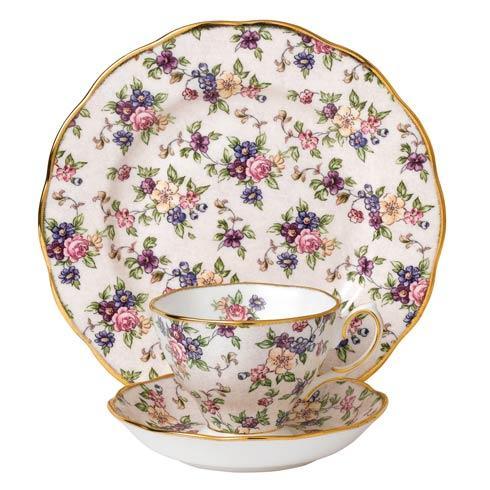 "$60.00 1940 3-Piece Teacup,Saucer & Plate 8"" Set English Chintz"