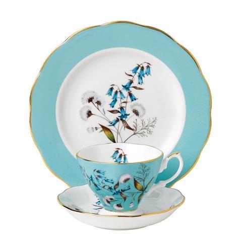 """$60.00 1950 3-Piece Teacup, Saucer & Plate 8"""" Set Festival"""