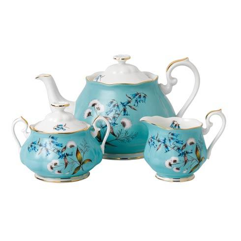 $144.00 1950 3-Piece Teapot, Sugar & Creamer Set Festival
