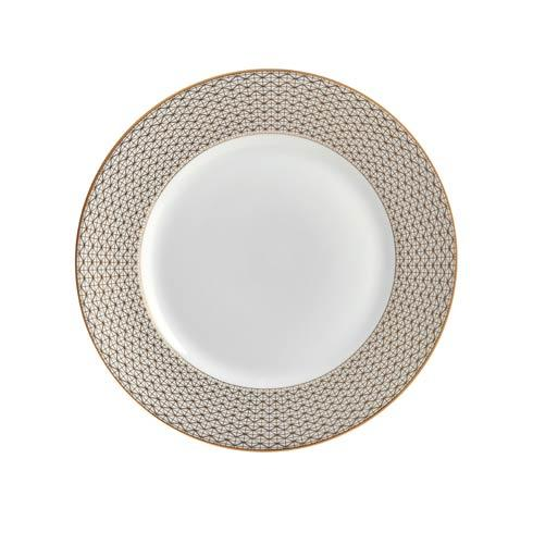 Waterford  Lismore Diamond Gold Salad Plate, 8
