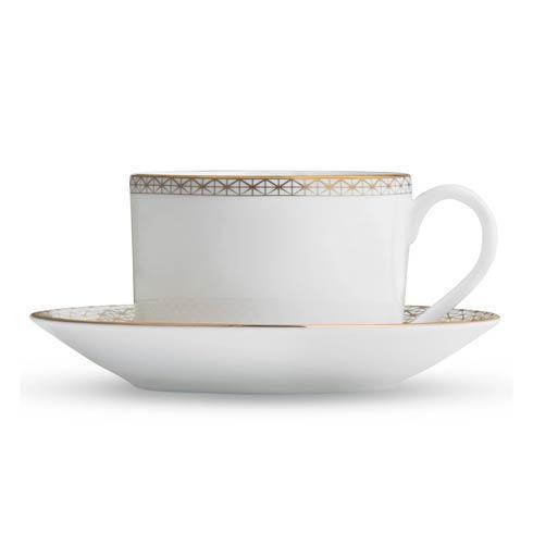Waterford  Lismore Diamond Gold Teacup and Saucer $48.00