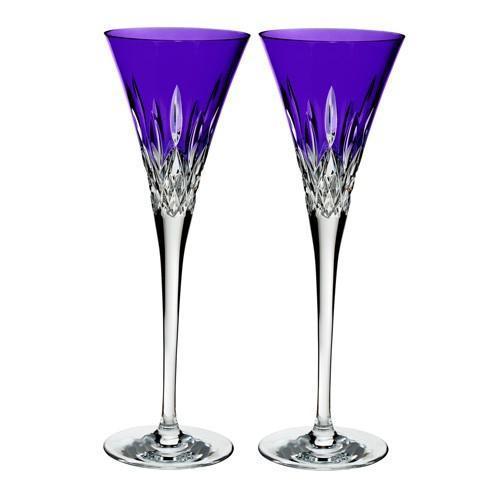 $210.00 Toasting Flute Pair, Purple