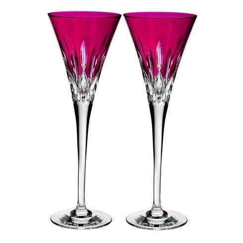Lismore Pops Flute Set/2 Hot Pink