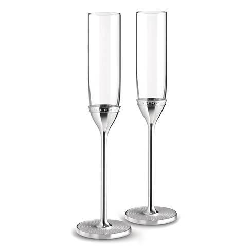 $90.00 Toasting Flute Pair Silver