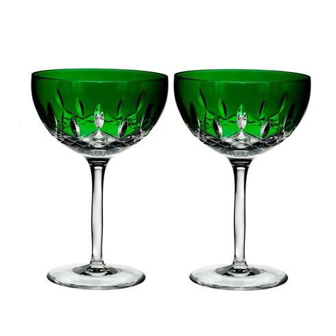 Waterford  Lismore Pops Cocktail Pair, Emerald $195.00