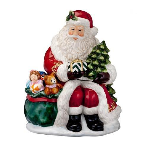 Waterford  Holiday Heirloom Nostalgic Ceramic  Gift from Santa Cookie Jar 10.5in $99.00