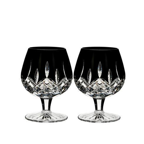 $188.00 Lismore Black Brandy Set/2