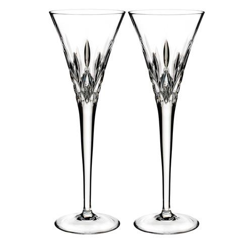 Waterford  Lismore Pops Toasting Flute Pair, Clear $150.00
