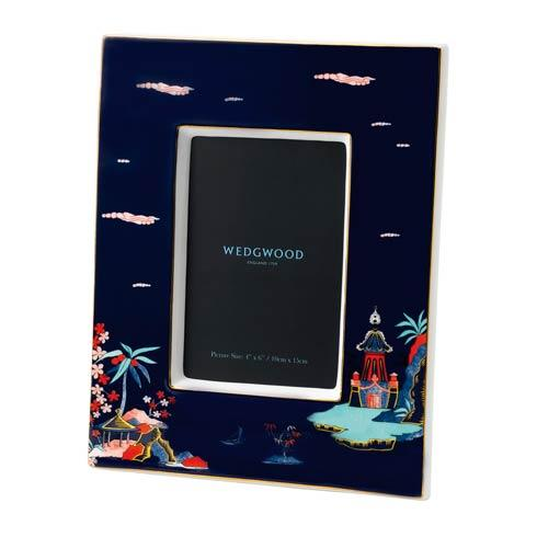 "$85.00 Frame 4x6"" Blue Pagoda"