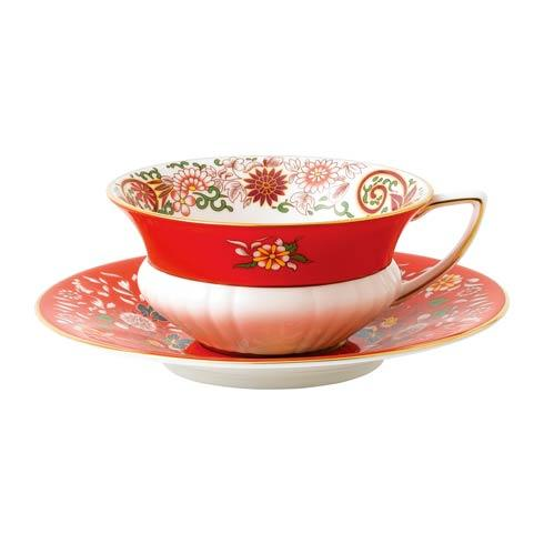 Teacup & Saucer Set Crimson Orient
