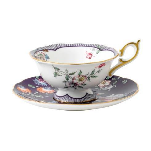 Teacup & Saucer Set Midnight Crane