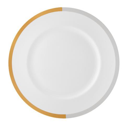 """$40.00 Vera Castillon Gold/Gray Dinner Plate 10.75"""""""