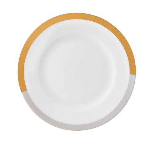 """$26.00 Vera Castillon Gold/Gray Salad Plate 8"""""""