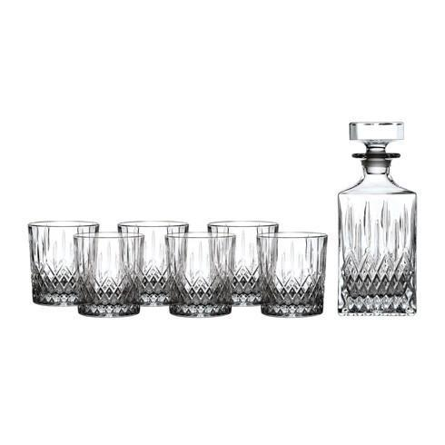 $109.99 Earlswood Whiskey Decanter & Tumbler Set/6