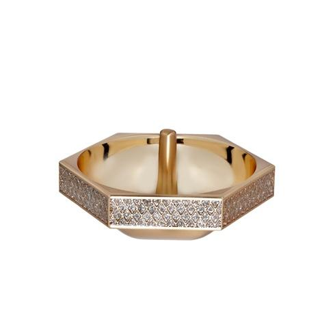 Lismore Diamond Ring Holder Gold
