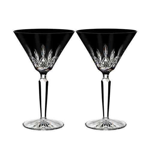 $235.00 Lismore Black Martini Set/2
