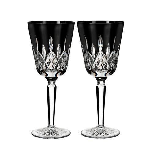 $156.00 Lismore Black Goblet Set/2