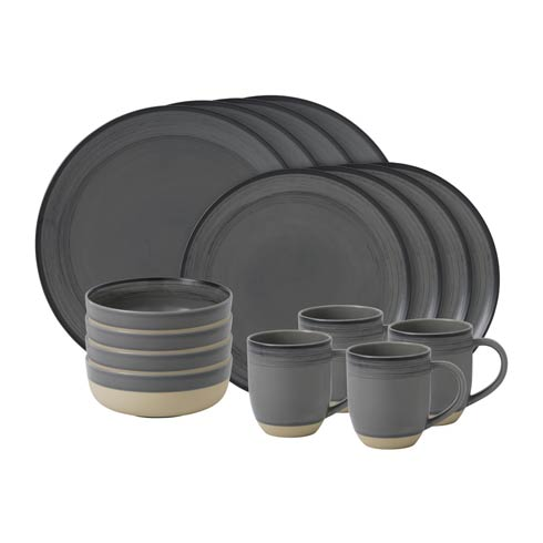 $118.00 16 - Piece Set Grey