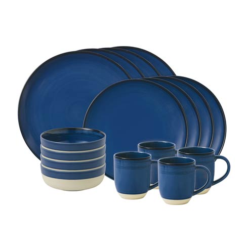 $118.00 16 - Piece Set Cobalt Blue