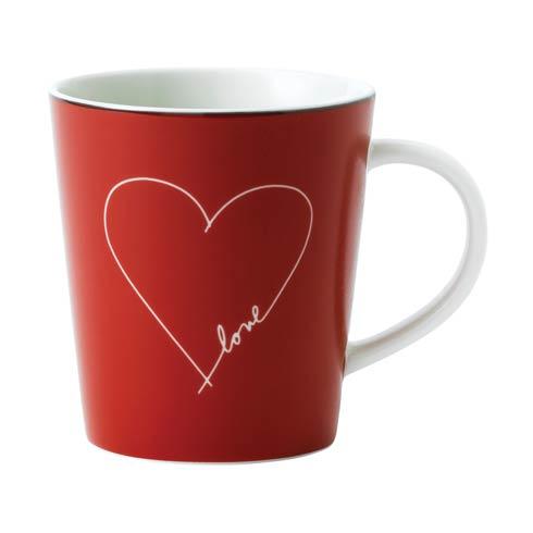 $10.00 White Heart Mug 16.5 Oz
