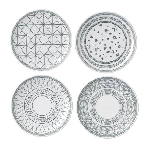 "$30.00 Plate 6"" Set of 4 Mixed"