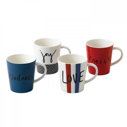 $41.00 Mug 16.5 Oz Set of 4 Mixed