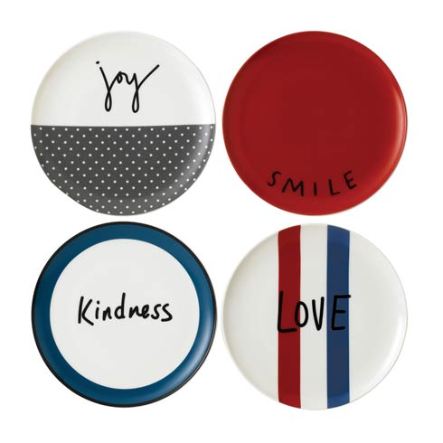 """$28.00 Plate 8"""" Set of 4 Mixed"""