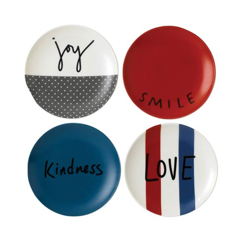 """$24.00 Plate 6"""" Set of 4 Mixed"""