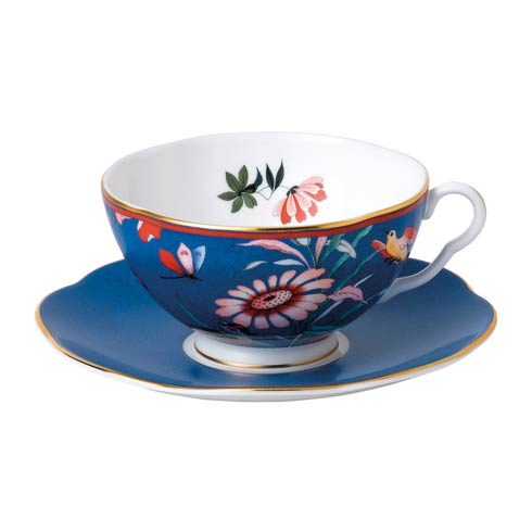Teacup & Saucer Set Blue