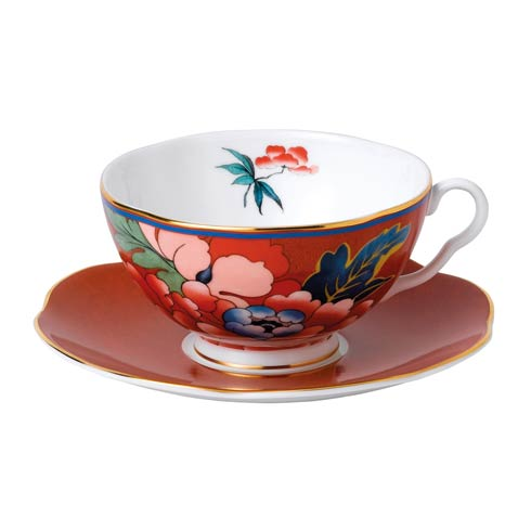 Teacup & Saucer Set Red