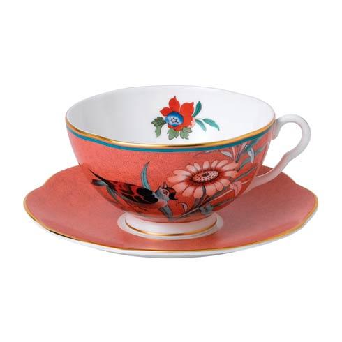 $60.00 Teacup & Saucer Set Coral