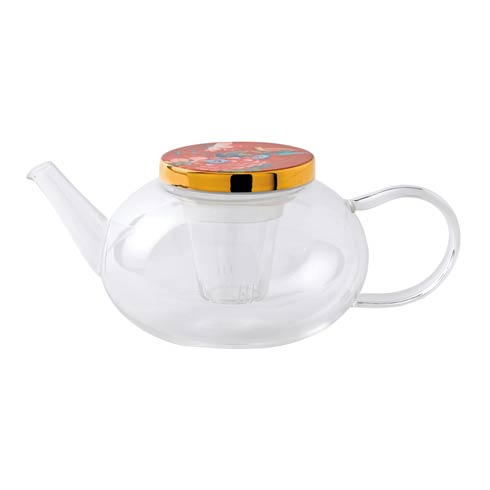 Teapot Glass (With Ceramic Lid) 33.8 OZ