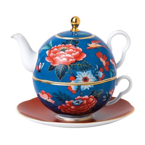 $160.00 Tea For One (Blue & Red)
