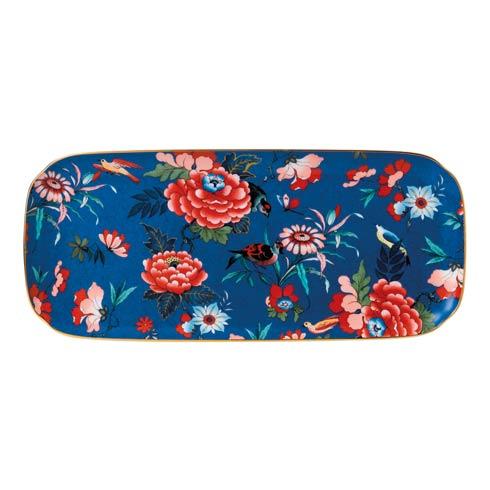 Wedgwood  Paeonia Blush Sandwich Tray L/S Blue $95.00