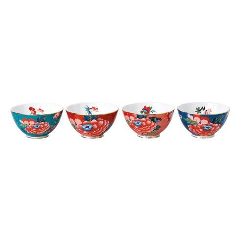 "Wedgwood  Paeonia Blush Bowl 4.7"" Set of 4 $130.00"