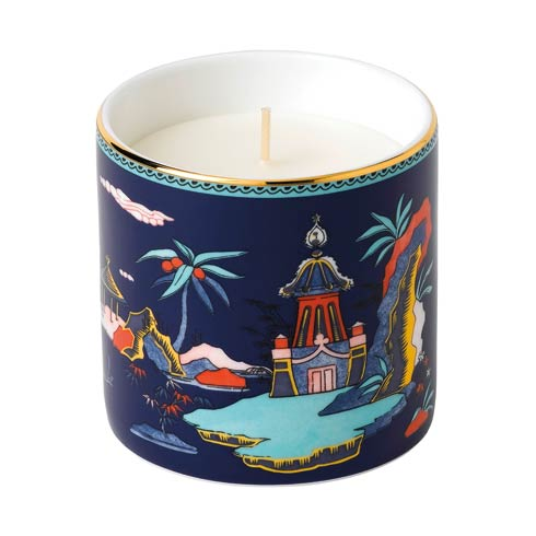 $49.95 Blue Pagoda Candle (Lotus & White Jasmine)