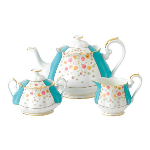 $180.00 1930 3-Piece Set (Teapot, Sugar & Creamer) Mint Deco