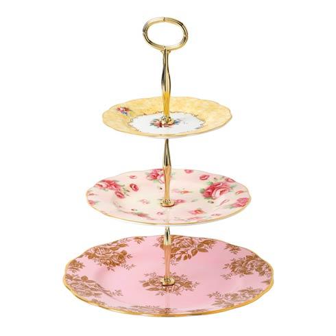 $89.99 Cake Stand Three-Tier (Bouquet, Rose Blush & Golden Rose)