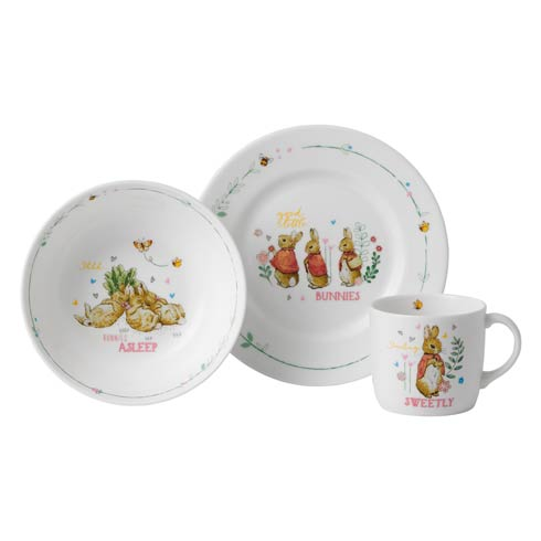 Girl's 3 - Piece Set (Plate, Bowl & Mug)