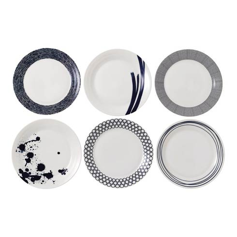 """$98.00 Dinner Plate 11"""" Set of 6 Mixed Patterns"""