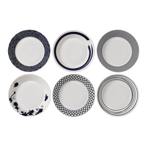 """Royal Doulton  Pacific Mixed Patterns Pasta Bowl 8.6"""" Set of 6 Mixed Patterns $84.00"""