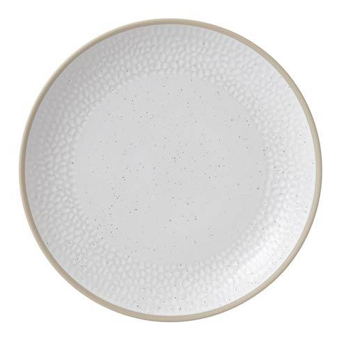 """$9.99 Dinner Plate 11"""" Hammer White"""