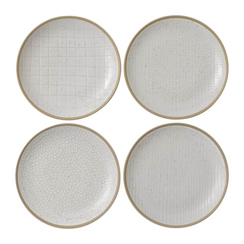 "$40.00 Salad Plate 9"" Mixed White Set of 4"