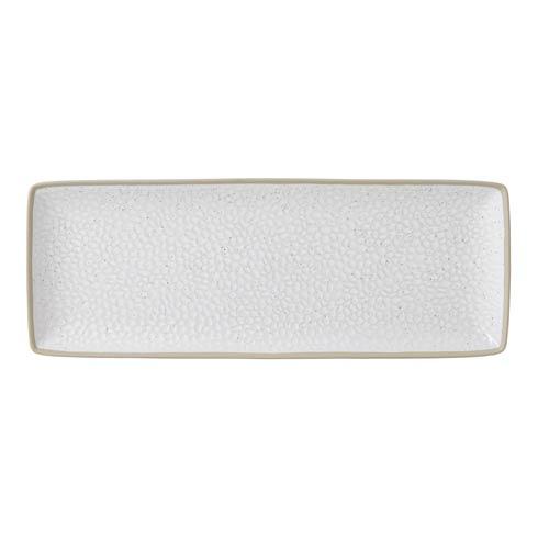 """$34.99 Serving Platter 16x7"""" Hammer White"""