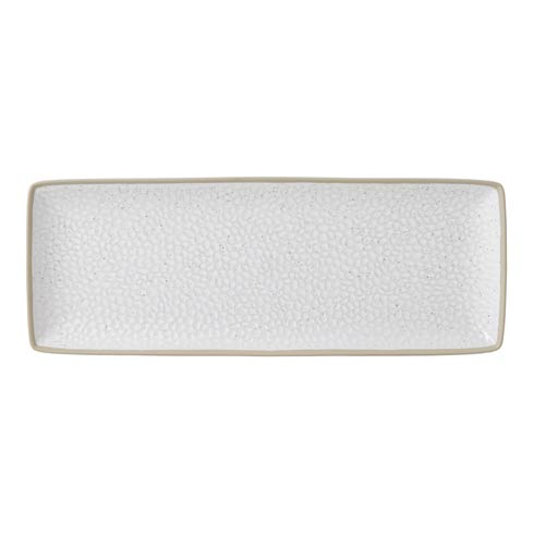 "Serving Platter 16x7"" Hammer White"