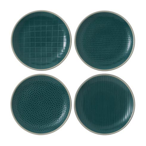 "$32.00 Salad Plate 9"" Mixed Blue Set of 4"