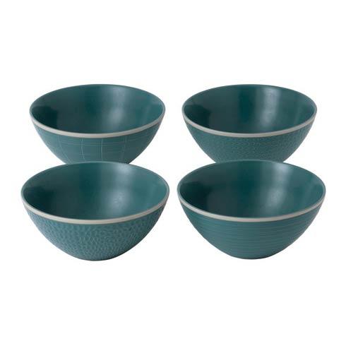 """$54.00 Bowl 6"""" Mixed Blue Set of 4"""