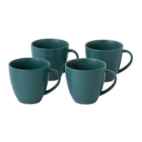 $23.99 Mug 12.6 OZ Mixed Blue Set of 4