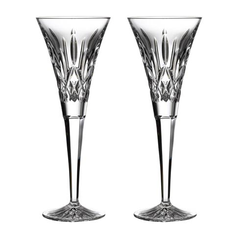 Waterford  Lismore Gift Bar Toasting Flute Pair $160.00