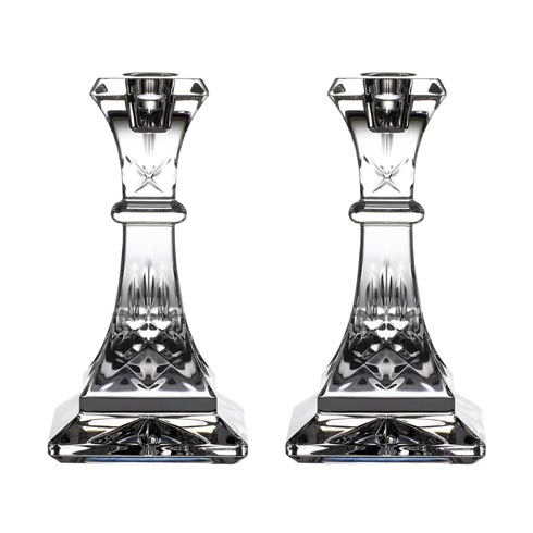 "Waterford  Lismore Gift Bar Candlestick 6"" Pair $200.00"